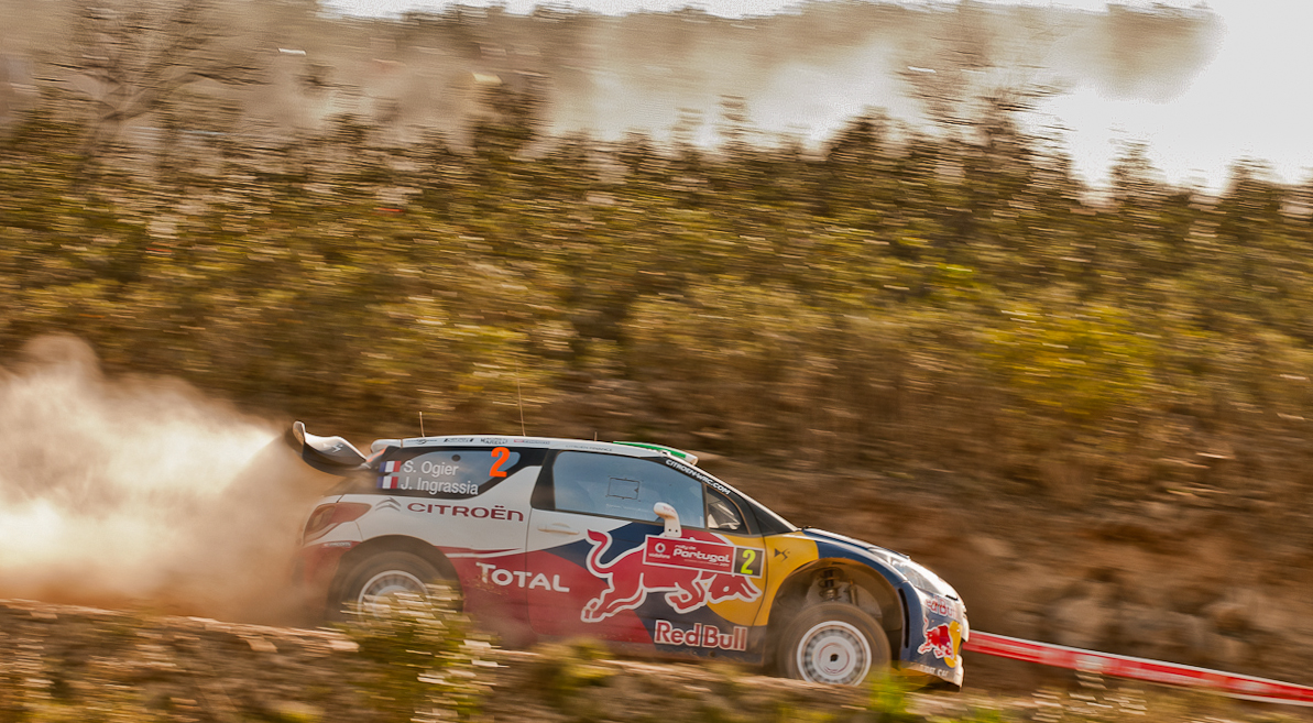Ogier in a DS3, Rally Portugal